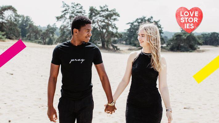 Sanne en Sami krijgen racistische reacties op hun relatie: ''Mensen zeggen dat we het witte ras uitroeien''