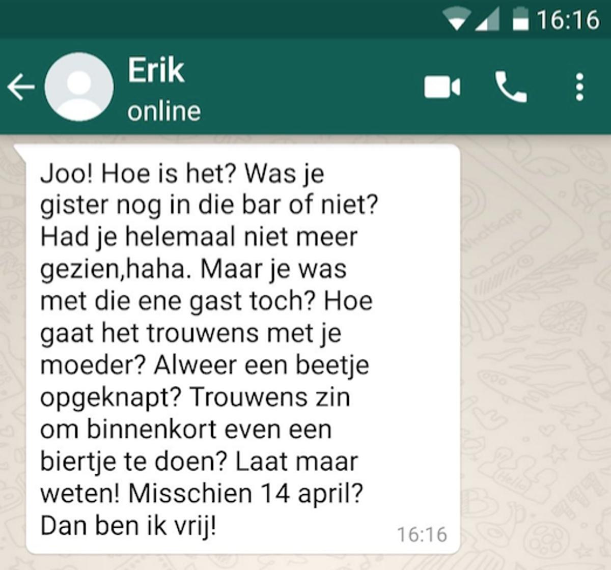 De_verloren_vriend_whatsapp